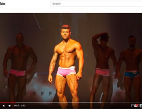 Rogan Posing On WBFF Stage